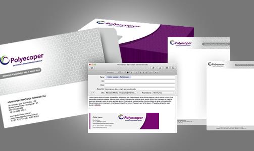 Criação de envelope, timbrado e assinatura de e-mail